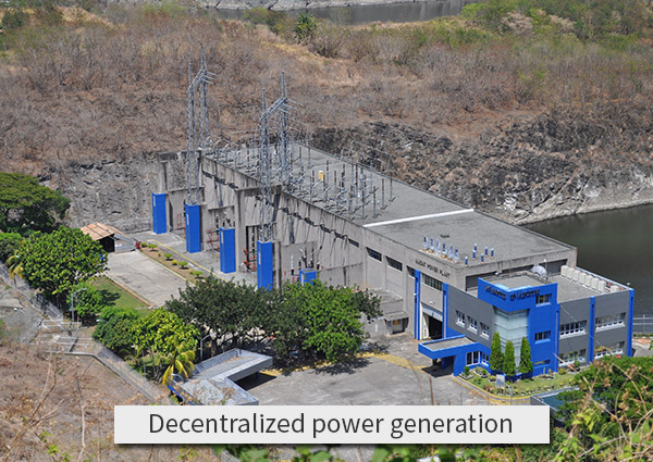 Decentralized-power-generation