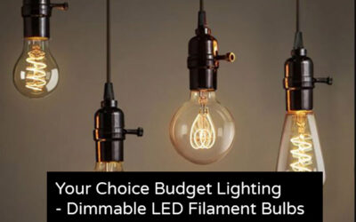 Your Choice Budget Lighting- Dimmable LED Filament Bulbs